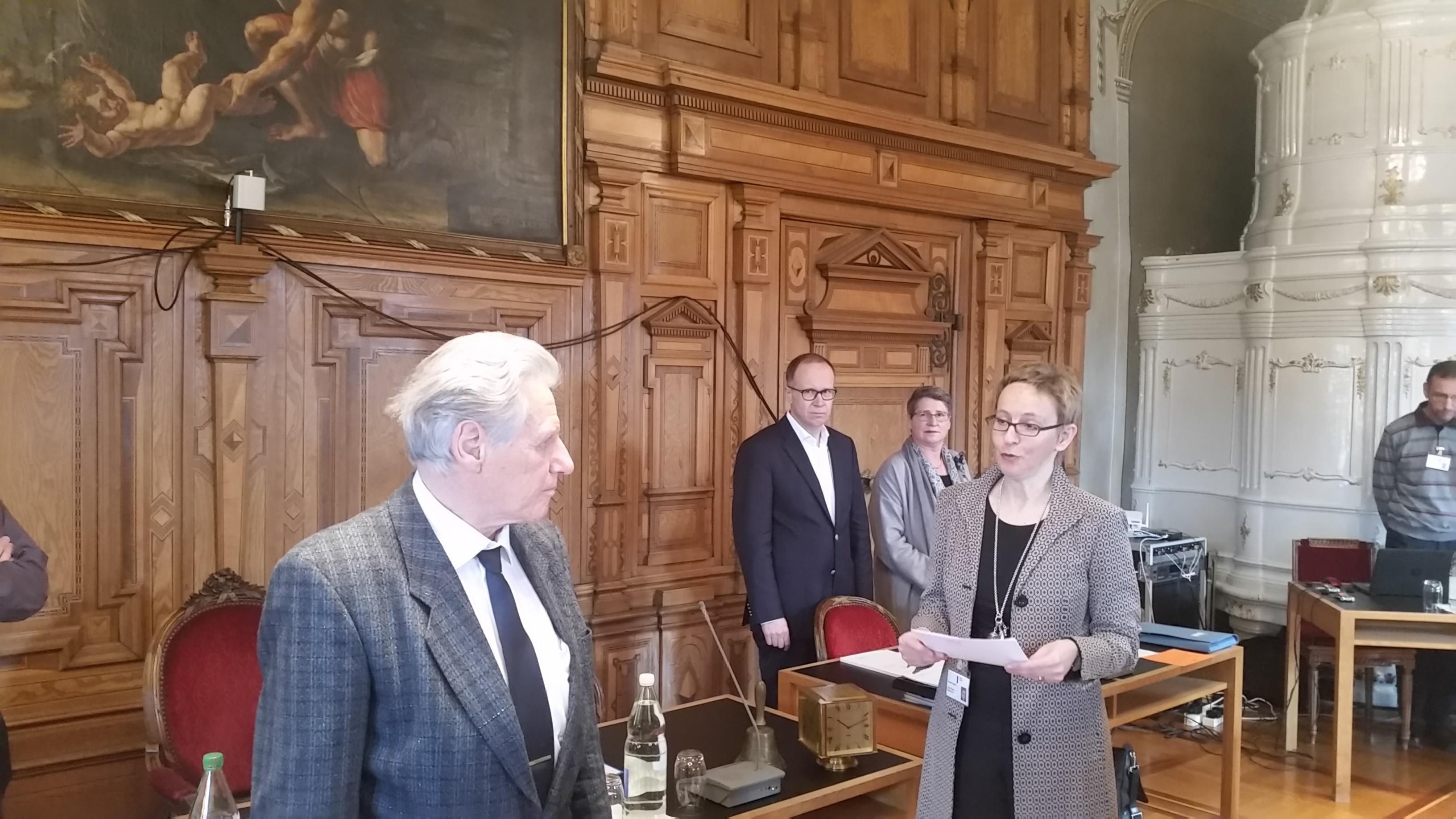 Vereidigung von Ernst Brunner im Grossen Stadtrat